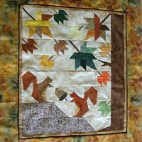 Autumn quilt top, (almost) competely hand sewn by Birgit Haamann