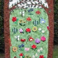 "Community quilt ""End of Summer"" sent in by Uta Bensel"