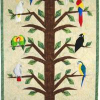 Parrot quilt by Ulrike Böhner
