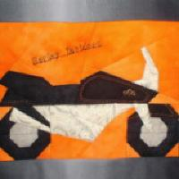 Mondfischerin sewed this motorcycle